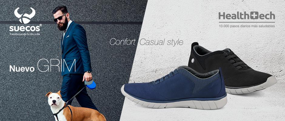 """SUECOS® lanza GRIM el primer zapato casual """"outdoor"""" de la firma destinada exclusivamente al público masculino"""
