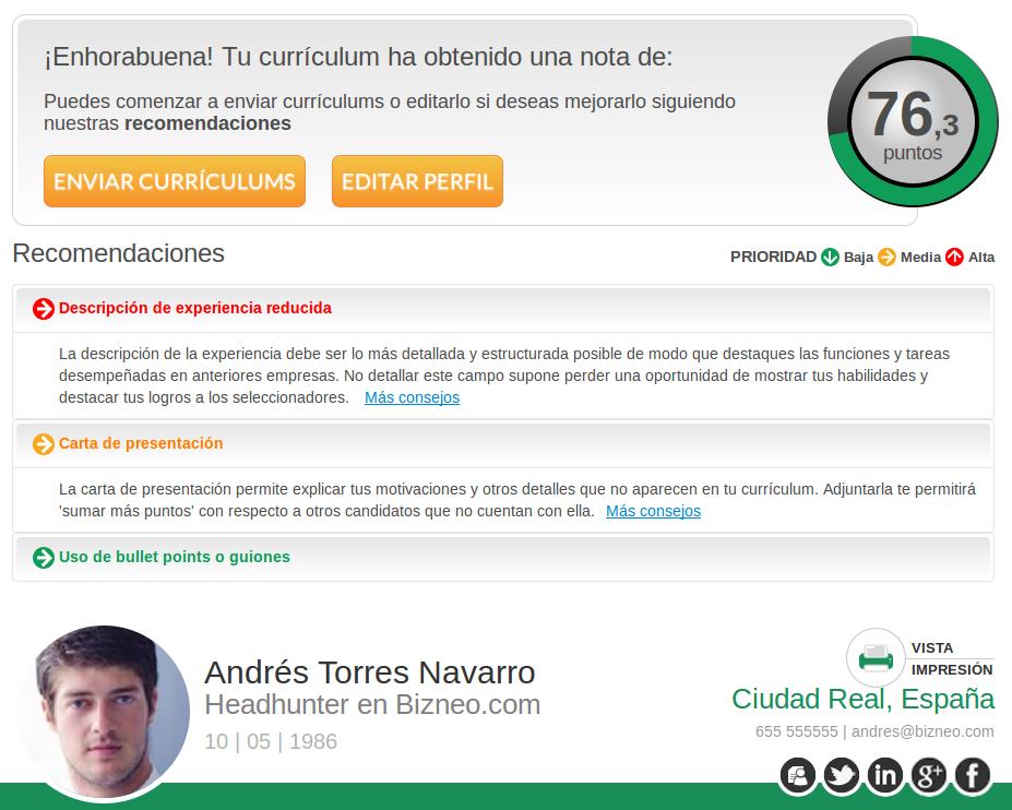 El primer Evaluador online de Currículums: la nueva herramienta de ...