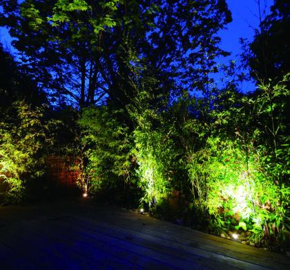 La iluminación de jardines o terrazas como elemento decorativo para las noches de verano