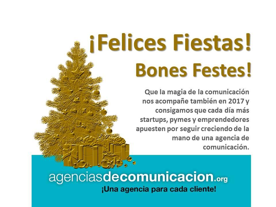 Agencias de Comunicación os desea Felices Fiestas