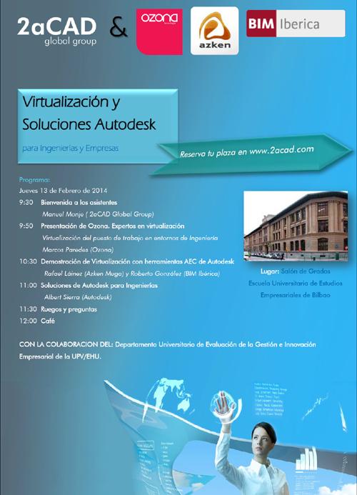 2aCAD presenta un seminario gratuito sobre soluciones tecnológicas de Virtualización para Ingenierías y Empresa