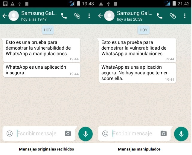 Los mensajes de WhatsApp se pueden manipular sin dejar rastro