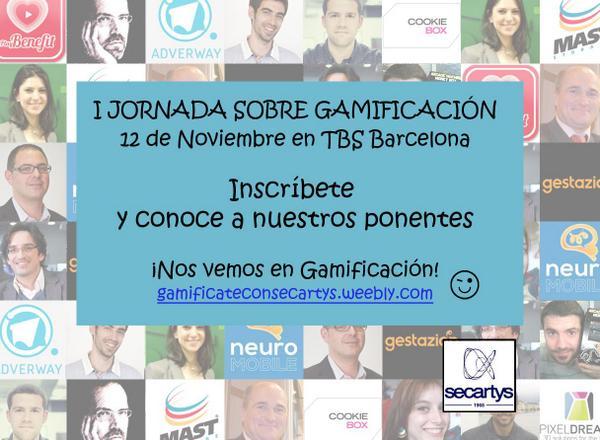 Expertos en gamificación de toda España se citan en Barcelona con SECARTYS