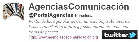 Síguenos en Twitter: http://twitter.com/#!/PortalAgencias