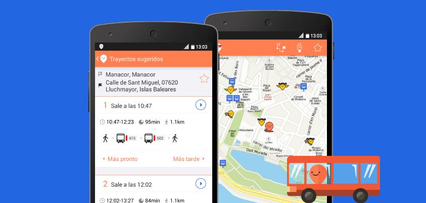 Moovit, la aplicación transporte público líder en el mundo, llega a Mallorca