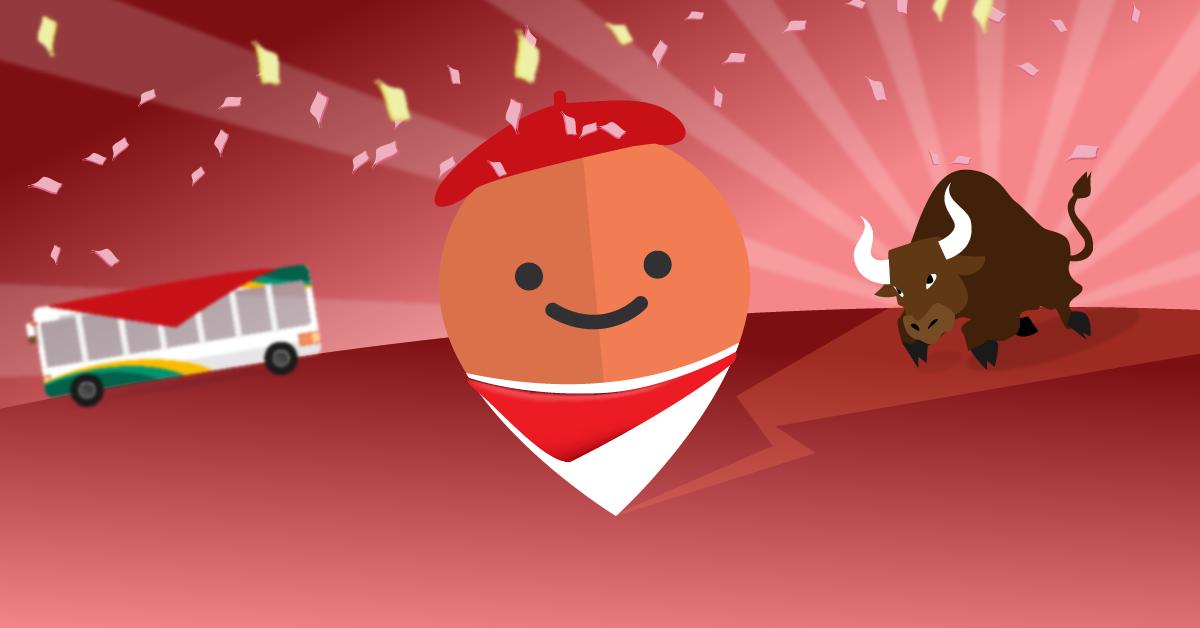 Llega Moovit, la app para moverse en tiempo de Sanfermines