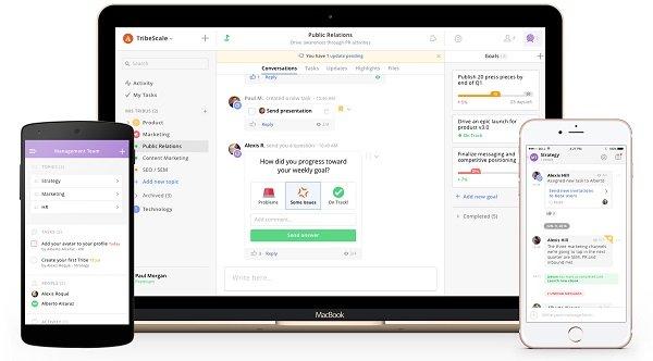 TribeScale, el 'WhatsApp' para empresas que mejora el trabajo en equipo