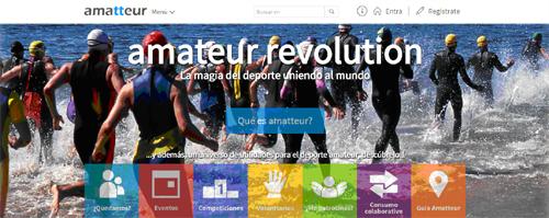Nace Amatteur.com, la nueva red social de utilidades para el deporte amateur