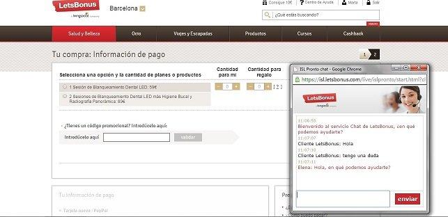 Optima Solutions instala su solución 'click to chat' en LetsBonus