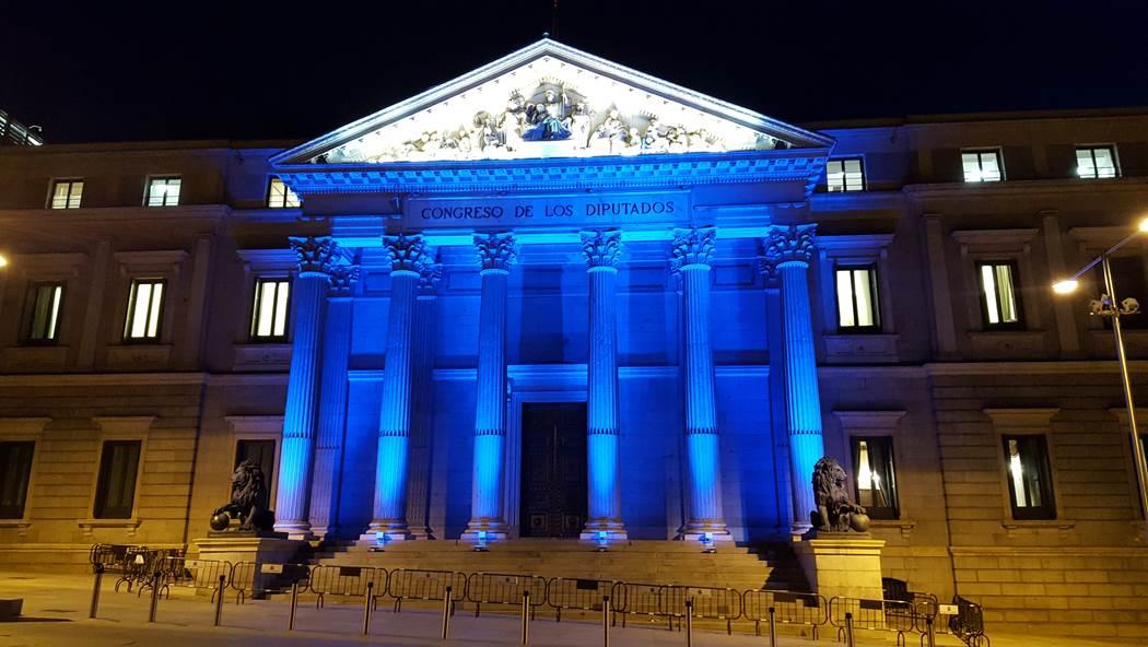 Prilux, el fabricante de iluminación que está detrás de los juegos de luces de la fachada del Congreso de los Diputados