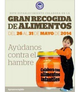 Dona online alimentos para bebés  en una nueva campaña del banco de alimentos