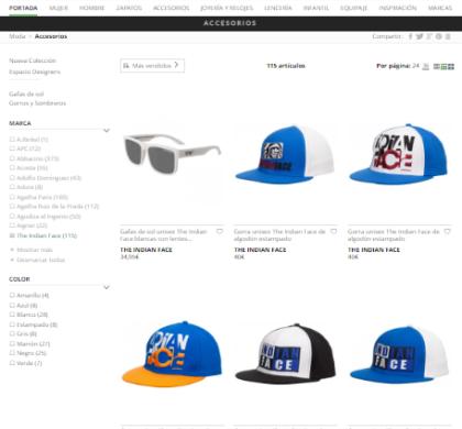 Los productos de The Indian Face ya están en la tienda online de El Corte Inglés