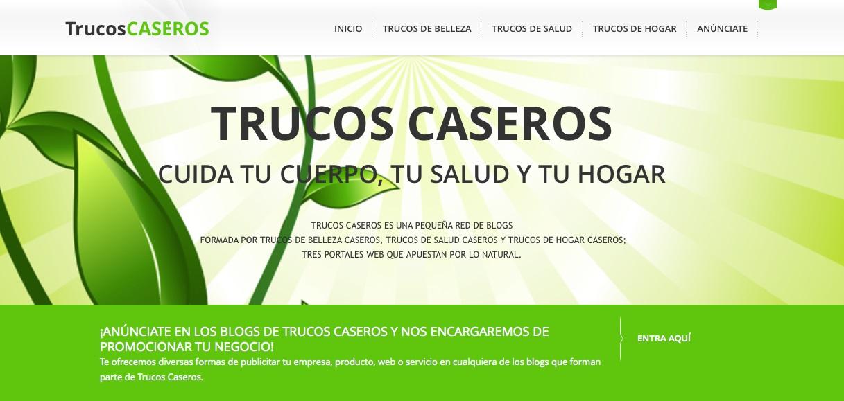 Nace Trucos Caseros, la red de blogs que apuesta por los remedios naturales