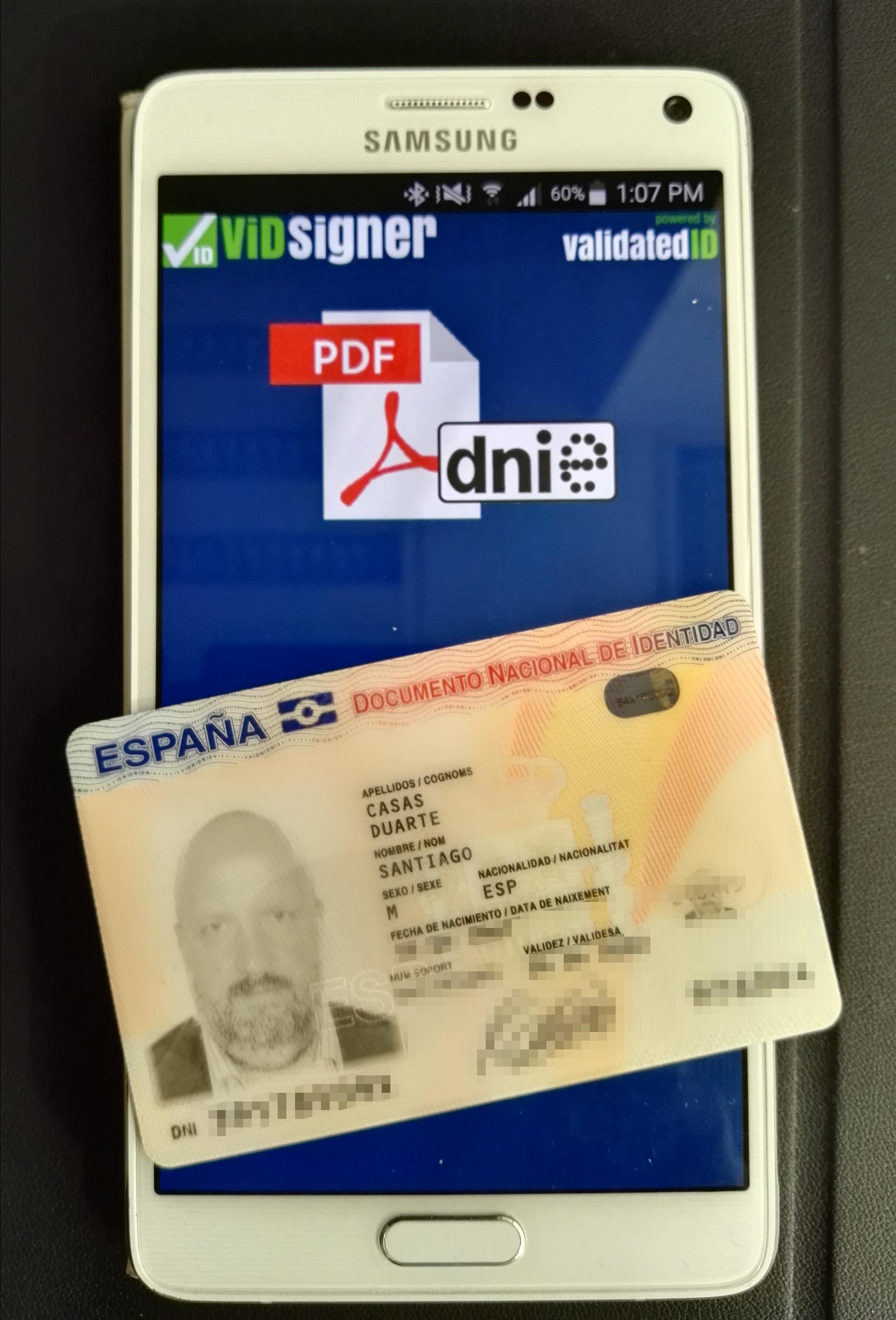 Firmar con el nuevo DNI desde el móvil ya es posible gracias a la nueva app de ViDSigner