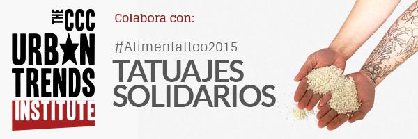 CCC participa en la iniciativa solidaria #Alimentattoo2015
