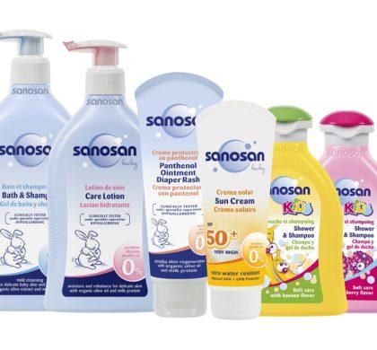 La gaditana Bebe Innova trae a las farmacias españolas la cosmética infantil de sanosan