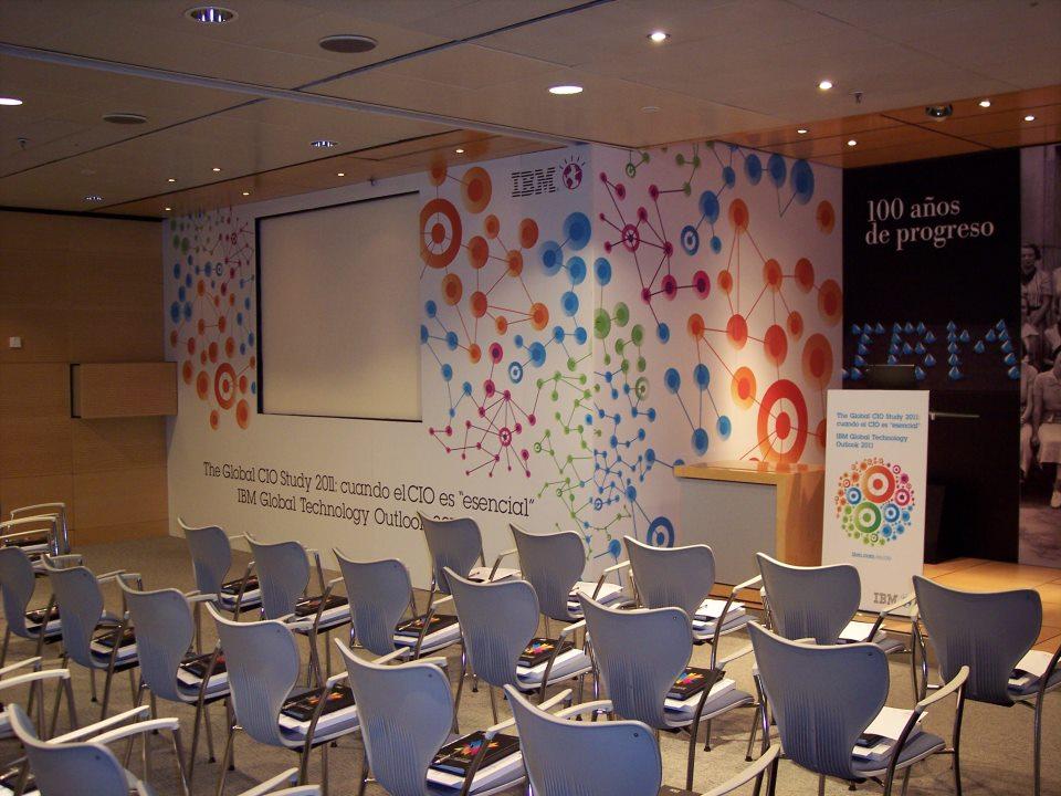 La comunicación visual personalizada, un sector en auge para los eventos empresariales