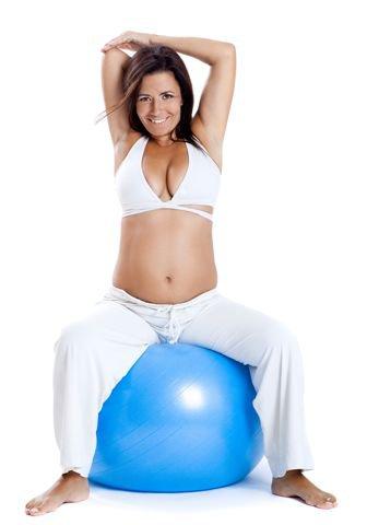 Clase gratis de Pilates online para embarazadas en el salón de tu casa