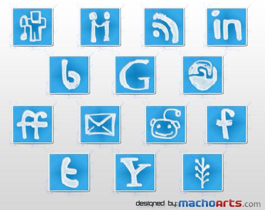 machoarts social media icons en devionart