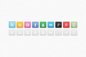 revised social media icon set