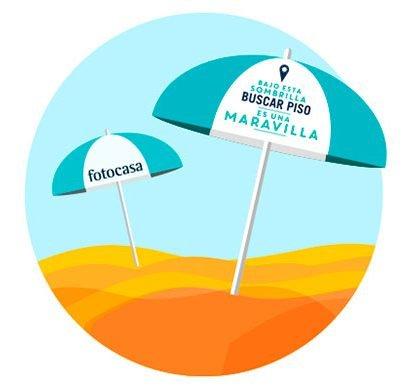 fotocasa reparte más de mil sombrillas en el litoral mediterráneo